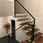 00235 Indoor Modern Railings interior stair-SmithMetalWorks.ca