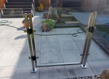 01253 Outdoor Stainless Steel Railings stairs-SmithMetalWorks.ca