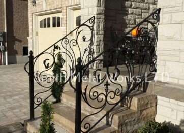 01271 Outdoor Wrought Iron Railings